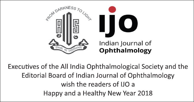 Indian Journal of Ophthalmology : Table of Contents