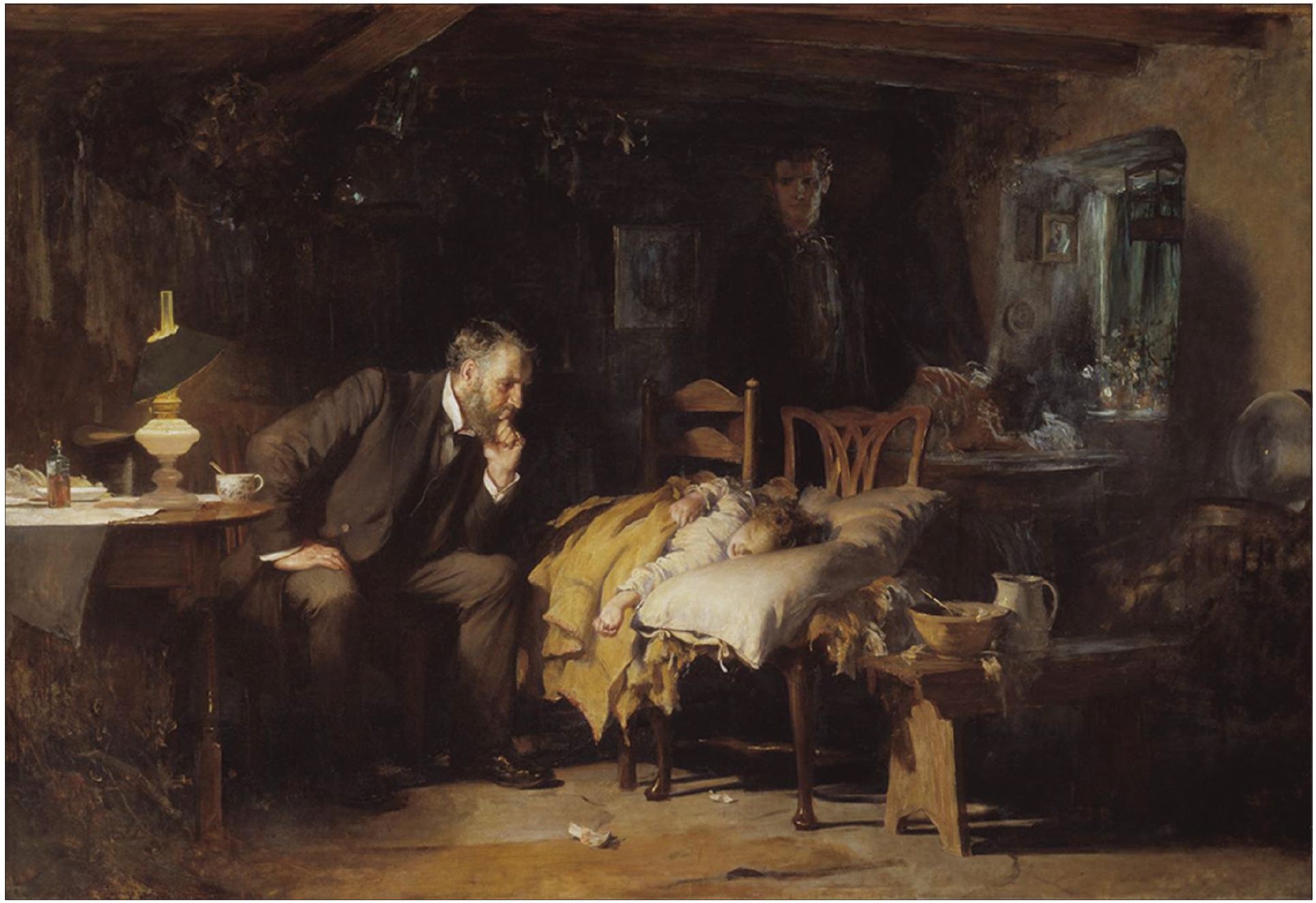 "Figure 1: Artist Sir Luke Fildes, ""The Doctor,"" oil on canvas, 1891, © Tate, Tate Britain, London, UK, CC-BY-NC-ND 3.0 (Unported), available at <a target="